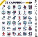 Camping outline icons 24798079