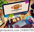 Quaterback American Football Athlete Game Concept 24800799