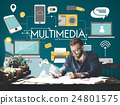Multimedia Communication Connection Technology Devices Concept 24801575