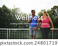 Salubrious Wellness Healthy Fitness Strong Powerful Concept 24801719