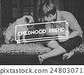Boy Dog Childhood Friend Concept 24803071