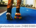 Skateboard Extreme Sport Skater Park Recreational Activity Concept 24803089