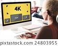4K Digital Entertainment Media Streaming Tv Concept 24803955
