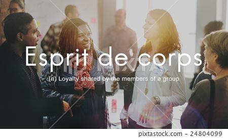 Esprit De Corps Group Loyalty People Graphic Concept 24804099