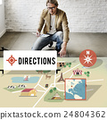 Direction Journey Location Magnetic Navigation Concept 24804362