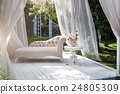 Summer garden gazebo with curtains and sofa for 24805309