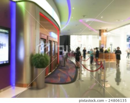 Abstract blur movie theater interior 24806135