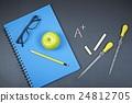 공부, 교육, 칠판 24812705