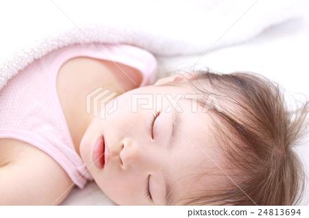 잠자는 얼굴, 여자아이, 낮잠 24813694