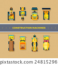 Construction Machines Top View  24815296