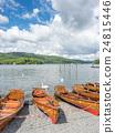 Kayak boat side lake 24815446