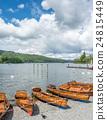 Kayak boat side lake 24815449