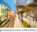 Car light movement in Bangkok 24816922