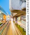 Car light movement in Bangkok 24816923