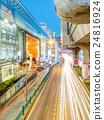 Car light movement in Bangkok 24816924