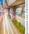 Car light movement in Bangkok 24816925