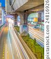 Car light movement in Bangkok 24816926