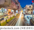 Car light movement in Bangkok 24816931