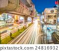 Car light movement in Bangkok 24816932