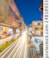Car light movement in Bangkok 24816933