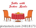 vector, table, dinner 24818173