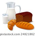 milk and bread 24821862