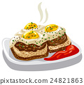 burgers with fried eggs 24821863