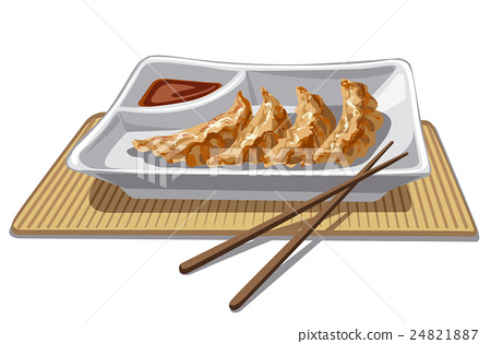 chinese dumplings with sauce 24821887