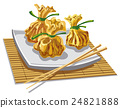 illustration of chineese dumplings 24821888