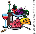 dinner with wine 24821889