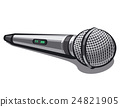 modern plugged microphone 24821905