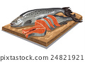 sliced salmon fish 24821921