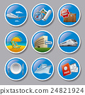 travel and resort icons 24821924