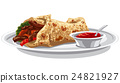 pita with grilled meat 24821927