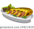 smoked mackerel on plate 24821929