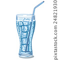 glass of sparkling water 24821930