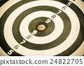 Black and white target as sport background 24822705