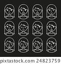Woman facial expressions 24823759