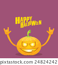 pumpkin rock n roll style halloween greeting card 24824242