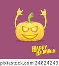 pumpkin rock n roll style halloween greeting card 24824243