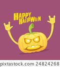 pumpkin rock n roll style halloween greeting card 24824268