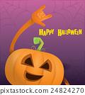pumpkin rock n roll style halloween greeting card 24824270