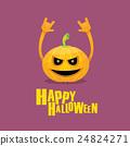 pumpkin rock n roll style halloween greeting card 24824271