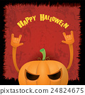 pumpkin rock n roll style halloween greeting card 24824675