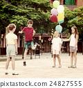 skipping, yard, childhood 24827555