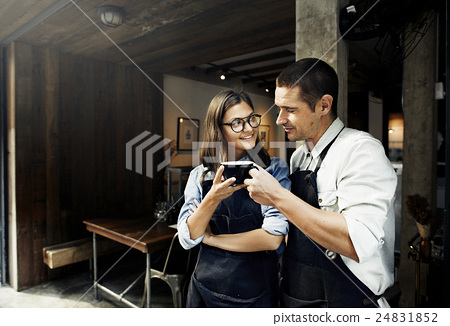 Barista Partner Working Coffee Shop Concept 24831852