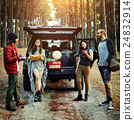 People Friendship Hangout Traveling Destination Camping Concept 24832914