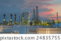 Oil refinery at dramatic twilight in Thailand 24835755