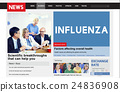 Influenza Cold Fever Flu Illness Concept 24836908