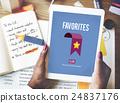 Favorites Bookmark Popular Data Technology Concept 24837176